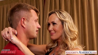 Busty blonde mama brandi love engulf and fuck rod