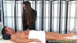 Massaging hottie spunk flow