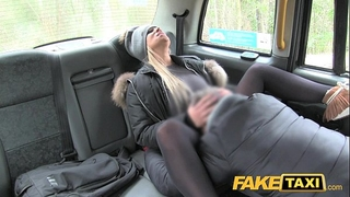 Fake taxi white wife desires drivers penis to keep her warm