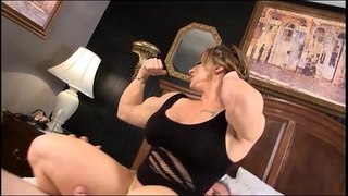 Eroticmusclevideos brandimae dominates and pegs dirty old dude