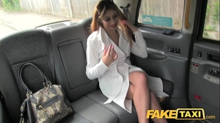 Faketaxi hot wife in fishnet underware