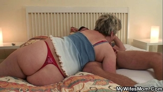 Horny granny seduces him but slutwife finds out!