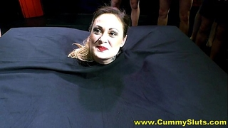 Hot nylons milf acquires overspread in jism