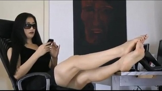 Lovely oriental dirty slut wife very comfortable showing the toes of her breathtaking feet