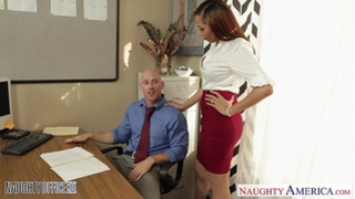 Stockinged honey serena ali fuck in the office