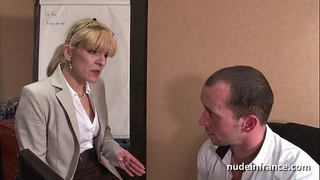 Amateur aged blond anal screwed hard at office
