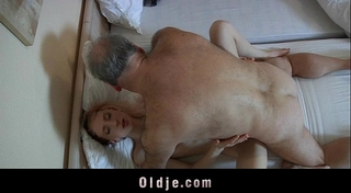 Old pervert stud drilled by a concupiscent youthful maid