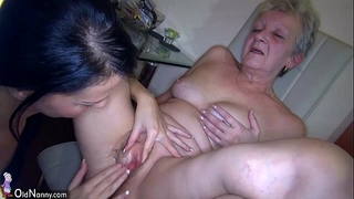 Oldnanny hawt youthful dirty slut wife and slender old aged have sex with toy