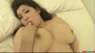 Plump and breasty chick yume sazanami finger screwed and cum-hole pounded