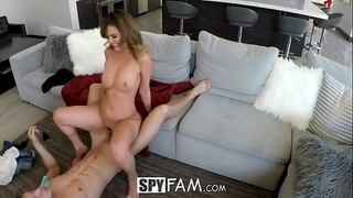 Spyfam step sister dillion harper curious about step brother penis