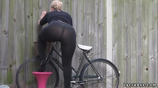 Sexy large gazoo in transparent lycra leggings tights & strap