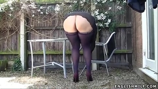 Stockings upskirt no pants hawt arse uk milf