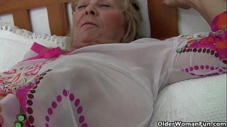 British granny isabel has large bumpers and a fuckable fanny