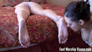 Lesbian white wife Married slut foot worship