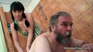 Sexy hottie receives wicked with concupiscent old man
