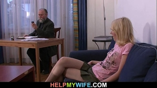Old stud pays him to fuck his youthful girl