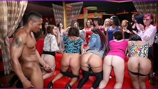 Dancing bear - this night club is on fire! gals engulfing shlong all over the place
