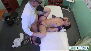 Skin scrutiny on a sexy playgirl in the fake hospital