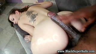 Interracial lewd miniature mambos wench