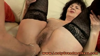 Mature granny in nylons toy cheerful