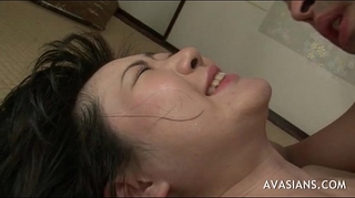 Asian housewife takes anal