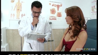 Hot redhead milf monique alexander receives a checkup
