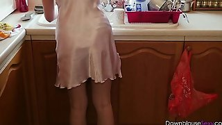 Jodie ellen - tea in my satin chemise - short t...