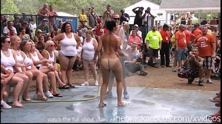 Amateur undressed contest at this years nudes a poppin festival in indiana