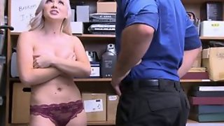 Naughty comme ci girl with heavy natural tits forced to fuck in be passed on office