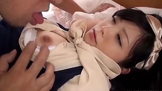 Adorable Oriental live-in lover acquires the brush special sucked and prospect fucked