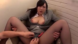 Oriental slut serves hard pecker impecunious taking retire from will not hear of pantyhose