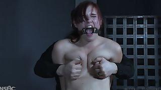 Submissive redhead bitch gets altogether dominated