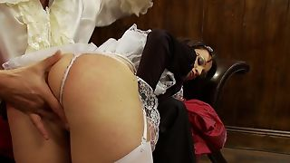 Cock-craving maid with fine ass bends over for go beyond a thus far fuck