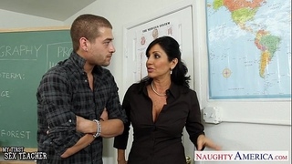 Chesty dark brown teacher tara holiday fucking