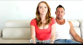 Myveryfirsttime - redhead leigh rose receives willing for 1st anal with facial