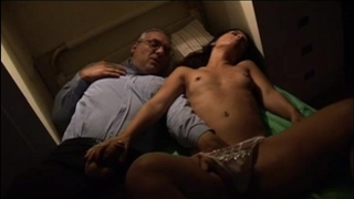 Young slutty wife spied and groped by her uncle in her sleep