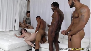 Slut sara jay group-fucked by dark weenies