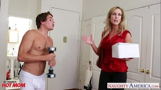 Busty golden-haired mama brandi love fucking