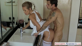 Sexy blond bride nicole aniston fucking