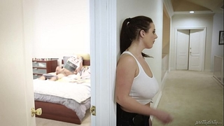Huge titted maid bonks the virgin man - angela white, tyler nixon