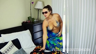 Hot milf with large wazoo copulates in thong bikini