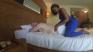 Massage in africa with oral-sex and cum eating