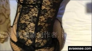 Chinese non-professional Married slut with hawt underware taking homemade movie