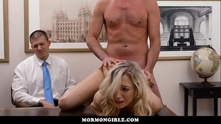 Girl screwed whilst her cuckold boyfriend watches