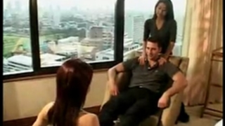 Tourist orders 2 thai bitches service in hotel room