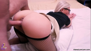 Milf from behind and riding her co-worker, 4k (ultra hd) - alena lamlam