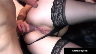 Naughty dirty slut wife shanda fay acquires a rod in her wet crack & booty!