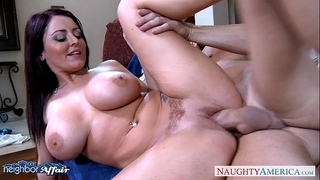Busty brunette hair sophie dee acquires facialized