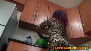 Amateur african dancer doggy style fucking service with white large shlong ally